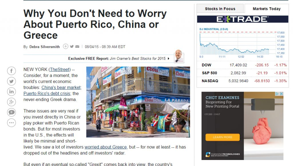 "Debbie-The-Street, ""Why You Don't Need to Worry about Puerto Rico, China or Greece"""