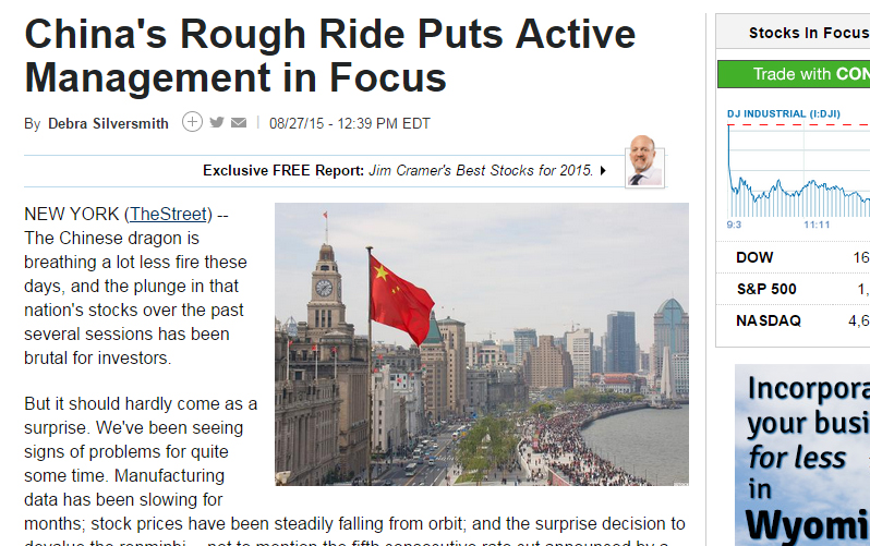 "Debra-The-Street-Article ""China's Rough Ride Puts Active Management in Focus"""