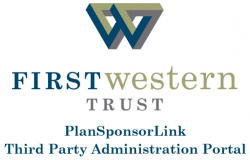 Logo for First Western's Third Party Administration Portal: Plan Sponsor Link