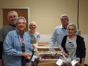 First Western associates volunteering at Loveland food share
